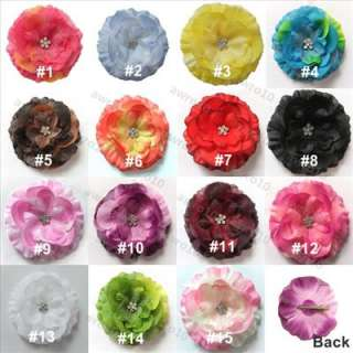Adorable baby jewel flower & hair bow clips,new in package.