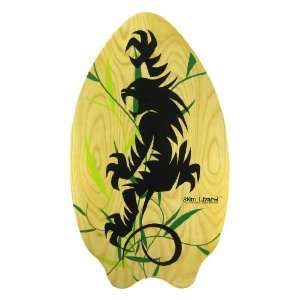 35 Inch Wood Skimboard Tribal Monster Graphics: Toys & Games