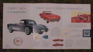 1957 Chevrolet Chevy Corvette Color Folder 57