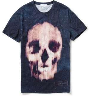 Clothing  T shirts  Crew necks  Skull Print Cotton T