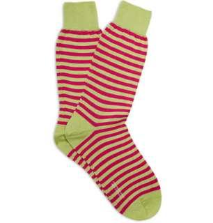 Accessories  Socks  Formal socks  Striped Cotton
