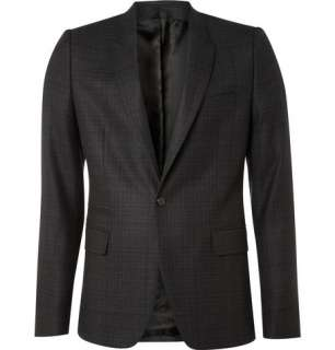 Blazers  Single breasted  Wool Prince of Wales Plaid Blazer