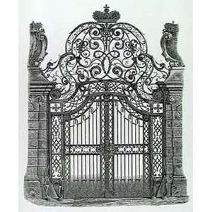 Wrought Iron Gate Art Poster Print, 18x24: Home & Kitchen