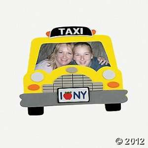 ~ 12 ~ Taxi Cab Foam Photo Frame Craft Kits ~ 7 X 5 3/4
