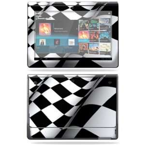 Vinyl Skin Decal Cover for Sony Tablet S Checkered Flag Electronics