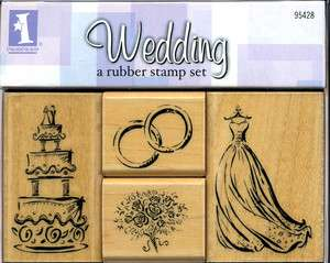 Elegant Rubber Stamps for Wedding, Love, Hearts & Valentines Asst