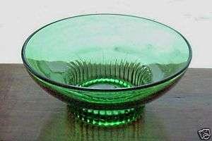 RANDALL Co.* EMERALD GREEN PRESSED GLASS BOWL*NICE