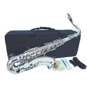 New Silver Tenor Saxophone Sax w/case Approved+Warranty