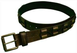 Tommy Bahama Mens Leather Belt Black
