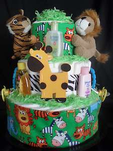 Safari Jungle Animals Diapercake