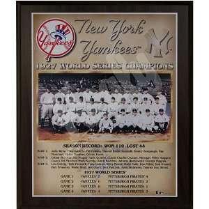 1927 New York Yankees World Series Champions Team 13x16 Plaque