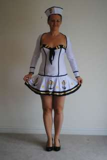 Sailor Fancy Dress Costume. White, Complete Outfit
