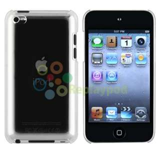 Clear Crystal Slim Hard Snap on Case Cover+Privacy Filter For iPod