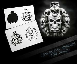 Airbrush Stencil Template 4 Steps AS 112 M Size 5,11 x 3,95