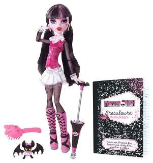 MONSTER HIGH DRACULAURA / DEACULA + HAUSTIER COUNT FABULOUS NEU & OVP