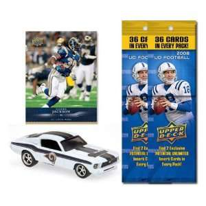St. Louis Rams 1967 Ford Mustang Fastback Die Cast with Steven Jackson
