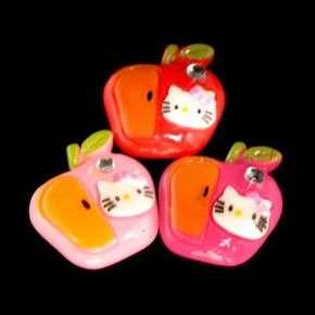 C1667B x 20 pcs Mix Hello Kitty Apple Fruit Rhinestone Resin Flatback