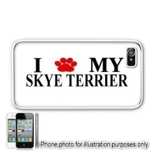 Skye Terrier Paw Love Dog Apple iPhone 4 4S Case Cover