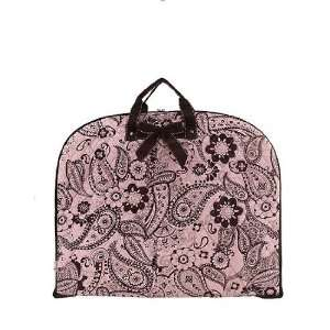 Quilted Garment Hanging Bag Suit Dress PINK BROWN PAISLEY