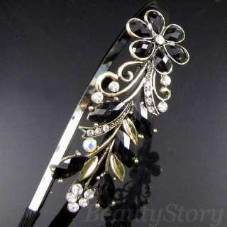 ADDL Item FREE SHIPPING antiqued rhinestone crystal flower hair band