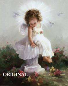 Angel Baby Sitting Cross Stitch Pattern TBB
