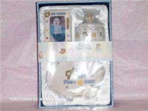 Baby Boy Infant 3pc Baseball Keepsake Gift Set New