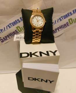 Gold Plated Stainless Womens Watch NY8336 NEW Inter Priority $14.95