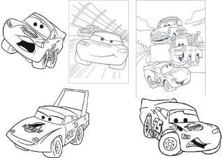 30 Window Color Cars Malvorlagen A4 Set1