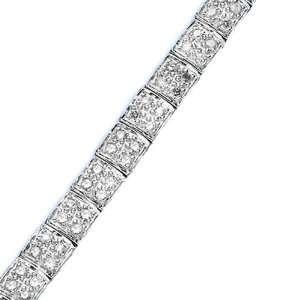 10K White Gold 2 ct. Diamond Tennis Bracelet Katarina Jewelry