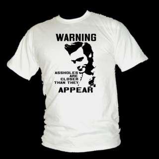 ACE VENTURA   Warning, assholes movie quote t shirt