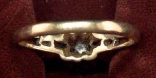 Ladies 10KT Yellow Gold Ring W/ Nice 4 Point Diamond