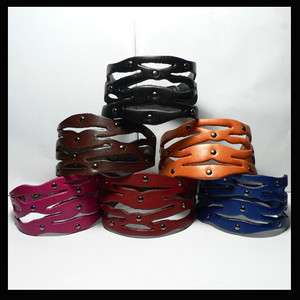Wholesale Lots Wristband Genuine Leather Cuff Bracelet LB321 LB326