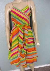 Marc Jacobs Multicolor Spring Summer Full Dress w/Belt size 6