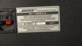 Bose 201 Series III Bookshelf Speakers