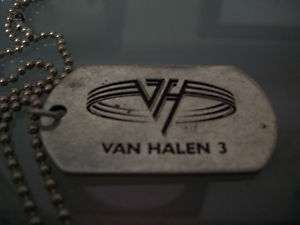 Van Halen 3 Tour Dog Tag Gary Cherone Extreme Hurtsmile