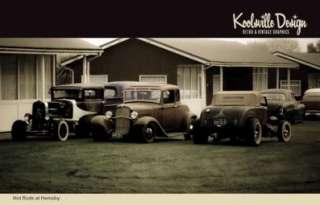 Set of 8 Hot Rod Postcards Led Sled Pick up Rockabilly Rat Rod Customs