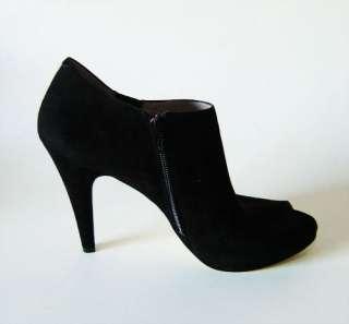 New Nine West PHANTOM Ladies Black Suede Heels Shoes
