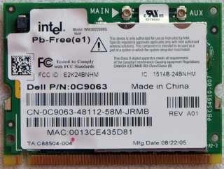 DELL INSPIRON 6000 PCI INTEL WIFI WIRELESS CARD 0C9063