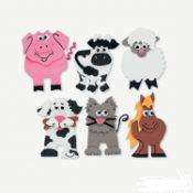 ANIMALS MAGNET CRAFT KIT   SHEEP, CAT, DOG, HORSE, COW & PIG