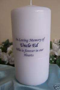 Personalized Memory Memorial Candle Wedding Remember