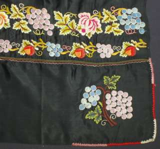 ANTIQUE Czech hand embroidered apron ethnic folk costume Moravia KROJ