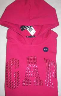 NWT Girls GAP Kids Pink Hoodie Sweatshirt XXL 14 16