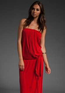 HAUTE HIPPIE Strapless Long Dress with Self Belt in Poppy at Revolve