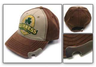 Guinness Bill Cap Hat With Built In Bottle Opener NEW#2