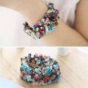 Fashion Cute Colorful Stone Bangle Bracelet 4 Girl Lady