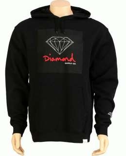 Diamond Supply Co. OG Sign Pullover Sweatshirt   Black/Red