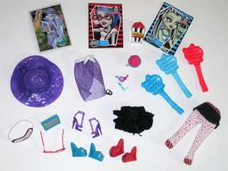 Monster High doll clothes shoes Dead Tired Skull Shores Abbey Ghoulia