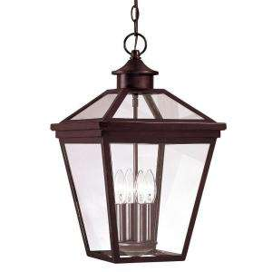 Illumine 4  Light Hanging Lantern English Bronze Finish Clear Glass