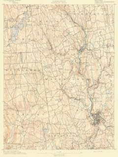 USGS TOPO MAP WATERBURY SHEET CONNECTICUT/CT 1892 MOTP