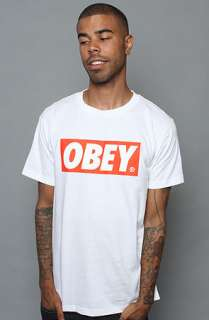 Obey The Obey Bar Logo Standard Issue Basic Tee in White  Karmaloop